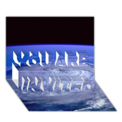 Hurricane Elena You Are Invited 3d Greeting Card (7x5)