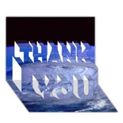 HURRICANE ELENA THANK YOU 3D Greeting Card (7x5)