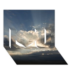HEAVEN RAYS I Love You 3D Greeting Card (7x5)