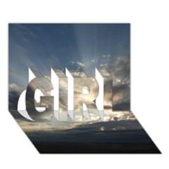 Heaven Rays Girl 3d Greeting Card (7x5)