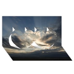 HEAVEN RAYS Twin Hearts 3D Greeting Card (8x4)