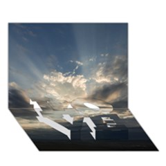 HEAVEN RAYS LOVE Bottom 3D Greeting Card (7x5)