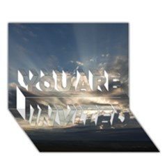 HEAVEN RAYS YOU ARE INVITED 3D Greeting Card (7x5)