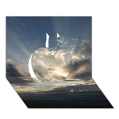 HEAVEN RAYS Apple 3D Greeting Card (7x5)