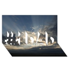 HEAVEN RAYS #1 DAD 3D Greeting Card (8x4)