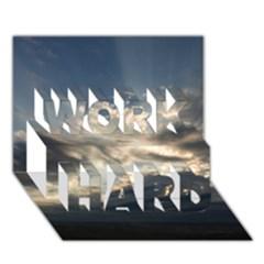 HEAVEN RAYS WORK HARD 3D Greeting Card (7x5)