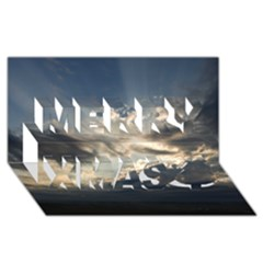 HEAVEN RAYS Merry Xmas 3D Greeting Card (8x4)