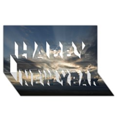 Heaven Rays Happy New Year 3d Greeting Card (8x4)