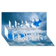 Cumulus Clouds Best Friends 3d Greeting Card (8x4)