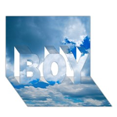 CUMULUS CLOUDS BOY 3D Greeting Card (7x5)
