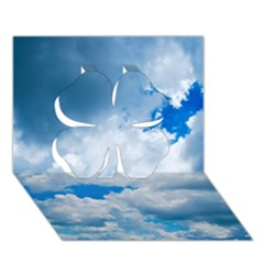 Cumulus Clouds Clover 3d Greeting Card (7x5)