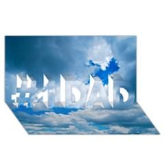 CUMULUS CLOUDS #1 DAD 3D Greeting Card (8x4)