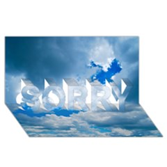 CUMULUS CLOUDS SORRY 3D Greeting Card (8x4)