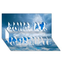 CUMULUS CLOUDS Congrats Graduate 3D Greeting Card (8x4)