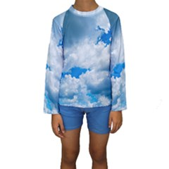 CUMULUS CLOUDS Kid s Long Sleeve Swimwear