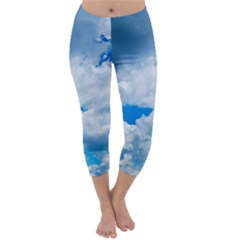 CUMULUS CLOUDS Capri Winter Leggings