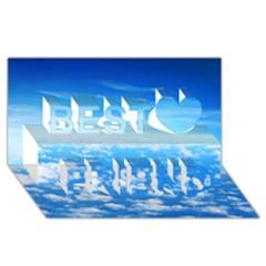 CLOUDS Best Friends 3D Greeting Card (8x4)