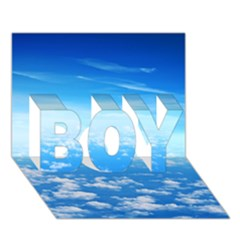 Clouds Boy 3d Greeting Card (7x5)