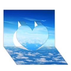 Clouds Heart 3d Greeting Card (7x5)