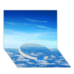 CLOUDS Circle Bottom 3D Greeting Card (7x5)
