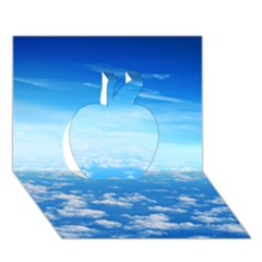 Clouds Apple 3d Greeting Card (7x5)