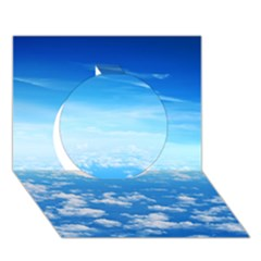 CLOUDS Circle 3D Greeting Card (7x5)