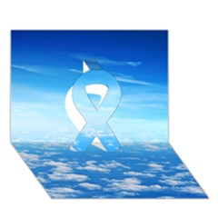CLOUDS Ribbon 3D Greeting Card (7x5)