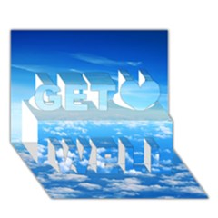 CLOUDS Get Well 3D Greeting Card (7x5)