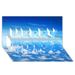 CLOUDS Merry Xmas 3D Greeting Card (8x4)