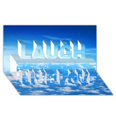 Clouds Laugh Live Love 3d Greeting Card (8x4)