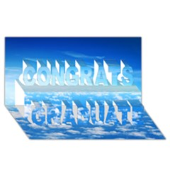 Clouds Congrats Graduate 3d Greeting Card (8x4)