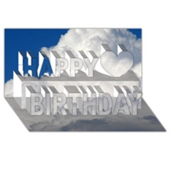 BIG FLUFFY CLOUD Happy Birthday 3D Greeting Card (8x4)