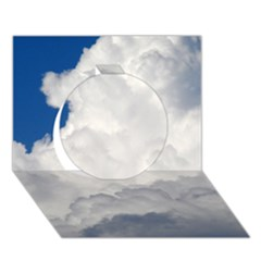 BIG FLUFFY CLOUD Circle 3D Greeting Card (7x5)