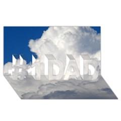BIG FLUFFY CLOUD #1 DAD 3D Greeting Card (8x4)