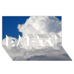 BIG FLUFFY CLOUD PARTY 3D Greeting Card (8x4)