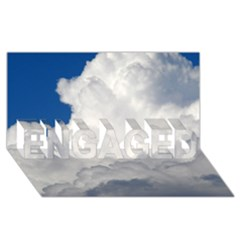 BIG FLUFFY CLOUD ENGAGED 3D Greeting Card (8x4)