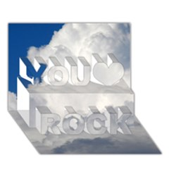 Big Fluffy Cloud You Rock 3d Greeting Card (7x5)