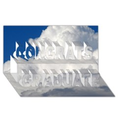 Big Fluffy Cloud Congrats Graduate 3d Greeting Card (8x4)