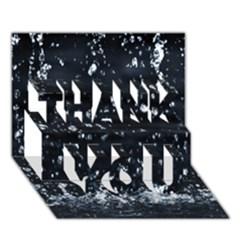 AUTUMN RAIN THANK YOU 3D Greeting Card (7x5)