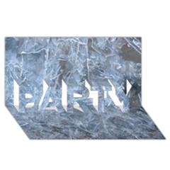 WATERY ICE SHEETS PARTY 3D Greeting Card (8x4)