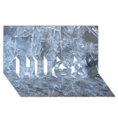 Watery Ice Sheets Hugs 3d Greeting Card (8x4)