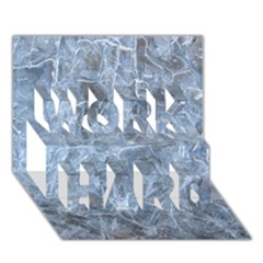 Watery Ice Sheets Work Hard 3d Greeting Card (7x5)
