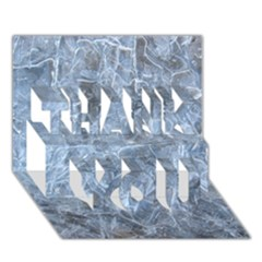 WATERY ICE SHEETS THANK YOU 3D Greeting Card (7x5)