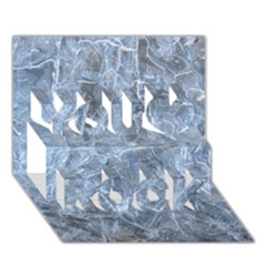 Watery Ice Sheets You Rock 3d Greeting Card (7x5)