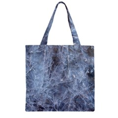 Watery Ice Sheets Zipper Grocery Tote Bags