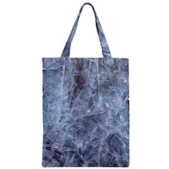 WATERY ICE SHEETS Zipper Classic Tote Bags