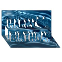 WATER RIPPLES 1 Happy Birthday 3D Greeting Card (8x4)