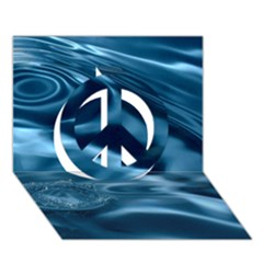 Water Ripples 1 Peace Sign 3d Greeting Card (7x5)
