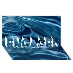Water Ripples 1 Engaged 3d Greeting Card (8x4)