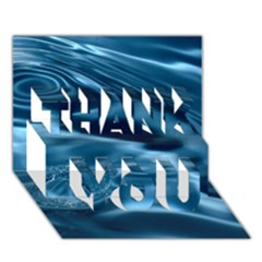 WATER RIPPLES 1 THANK YOU 3D Greeting Card (7x5)